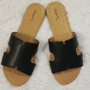 Black Slip On Sandal